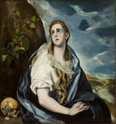 "El Greco's ""The Repentant Magdalen."""